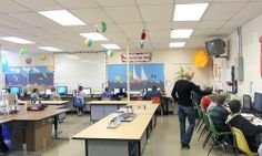 Perrysburg (OH) Junior High School students develop new skills and explore new topics in the Pitsco Module lab.