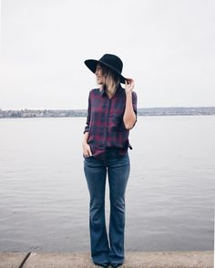 Flares & flannel | Women's fashion #hunnistyle