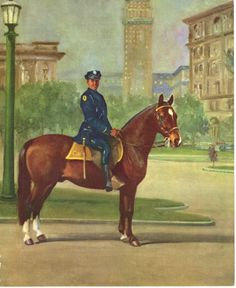 The Morgan - Pictured here serving on the police for mounted by a uniformed police officer.