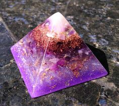 Orgonite Crown Chakra Pyramid ~ Violet Flame Orgone Alchemy