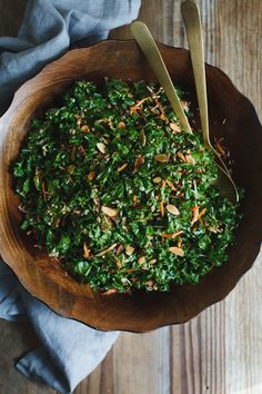 Kale Salad with Toas