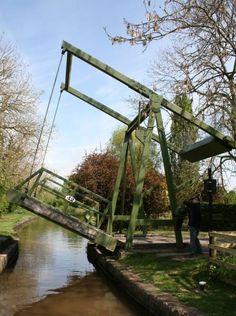 Canal lift bridge Llangollen Canal Wales