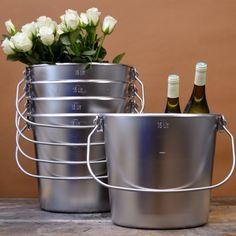 Steel #Cooking #Buckets - #Vintage Objects - Pedlars Vintage