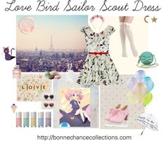 """Love Bird Sailor Scout Dress"" by bonne-chance ❤ liked on Polyvore"