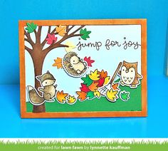 Netter's Notables: Lawn Fawn Inspiration Week--Jump for Joy & Leafy T...