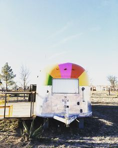 """""""there are some days you just need a rainbow painted airstream in your life. you can save this one up for when that day arrives. #mygifttoyoufreebie"""""""