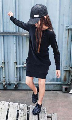 I Dig Denim sweat kjole sort   I Dig Denim Dina Dress   str 110-164 cm   359,90 kr.