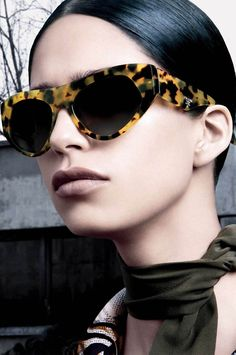 PRADA spring summer 2015 eyewear campaign shoot by the iconic steven meisel actually one of my favorite prada collection ever by mica_arganaraz_fanpage
