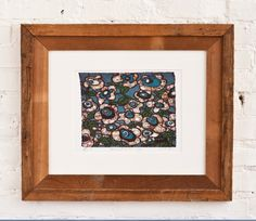 20x16 Blue Flowers- Matted and Framed Art Print by Andrea Davis // SophiesandCompany, $225.00