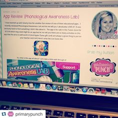 #Repost @primarypunch with @repostapp. ・・・ Look at me blogging away! :wink: I reviewed a new AMAZING phonological awareness app from @smartyearsapps on the blog! Head over and check it out, it's definitely a kid friendly engaging way to practice a must-ha