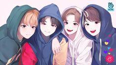 So cute! Ntc Dream, All Meme, Kpop Drawings, Jeno Nct, Kpop Fanart, K Pop, K Idols, Nct 127, Cute Art