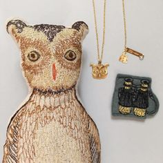 Titlee x Coral & Tusk Owl Necklace