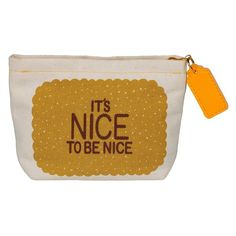 Coin Purse 'It's Nice to be Nice' Hazel Nicholls  #birthday #quirky #cheap #cool #gift #gifts #sale #shopping #presents #mzube   http://www.mzube.co.uk