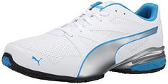 PUMA Mens Tazon Modern SL CrossTraining Shoe WhiteSilverCloisonnee 115 M US ** Continue to the product at the image link.