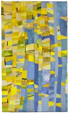 Available Work — Janet Windsor Quilt Modernen, Paper Weaving, Strip Quilts, Contemporary Quilts, Arte Pop, Fabric Art, Quilting Designs, Textile Art, Collage Art