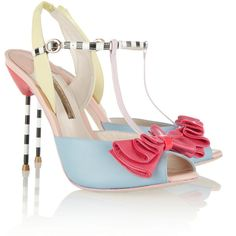 Sophia Webster Vivi patent-trimmed leather sandals ($585) ❤ liked on Polyvore