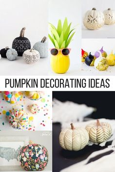 Love to decorate for fall but hate all the pumpkin mess. I love these non messy pumpkins!
