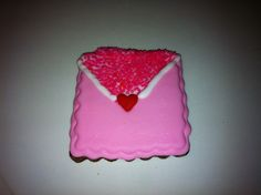 Valentine envelope sugar cookies