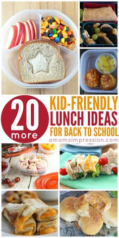 Get 20 Kid-Friendly Lunches perfect for lunches. These recipes are fun and will … Get 20 Kid-Friendly Lunches perfect for lunches. These recipes are fun and will please picky eaters. Simple, healthy recipes perfect for kids, teens and preschoolers. Kids Lunch For School, Healthy Lunches For Kids, Toddler Lunches, Kids Meals, Healthy Snacks, Cold Lunch Ideas For Kids, School Snacks, Simple Healthy Lunch, Simple Snacks