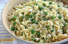 Lemon orzo salad recipe... over a bed of ARUGULA  (MINUS THE DILL)!!!