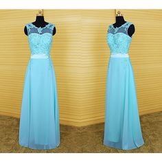 Light Blue Long Prom Dress Applique Prom Dresses ($129) ❤ liked on Polyvore featuring dresses, grey, women's clothing, mini dress, short prom dresses, light blue prom dresses, long cocktail dresses and gray prom dresses