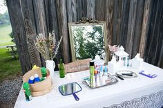 Ideas for Summer Weddings Reception Ideas: Having an outdoor reception? Place a primping station near the porta potties!Reception Ideas: Having an outdoor reception? Place a primping station near the porta potties! Wedding Trends, Diy Wedding, Rustic Wedding, Wedding Reception, Dream Wedding, Reception Ideas, Wedding Ideas, Wedding Stuff, Tent Reception