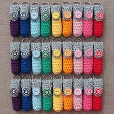 Lip Balm Holders (Lipcrèmehoesjes) | * Crochet keychain lip … | Flickr