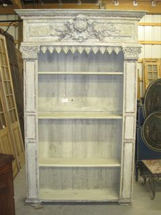 white room decor - Painted Bookcase