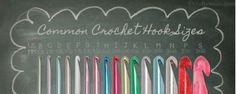 Conversión tamaños agujas de crochet