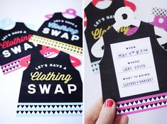Printable Clothing Swap Invites (Fun event idea.)