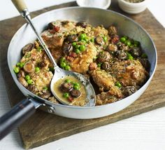 Chicken with mushrooms 260 calorias