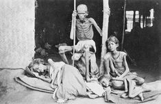 Victims of Madras Famine, India by Willoughby Wallace Hooper