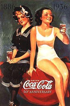 Coca Cola's 50th Anniversary Bathing Beauties circa 1936