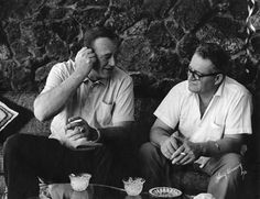 John Wayne at home with his brother Robert Morrison