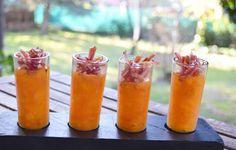Salmorejos con jamón, ideales para este tiempo www.tiendajulianmartin.es