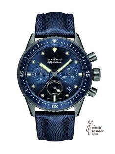 f8f93643d22  blancpain Ocean Commitment Bathyscaphe Chronographe Flyback - the  Bathyscaphe is powered by the 5-