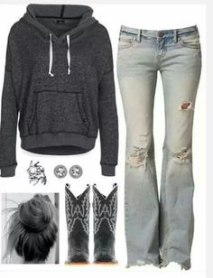 I like the hoodie and the boots.