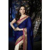 tamanna-s-royal-blue-half-half-saree