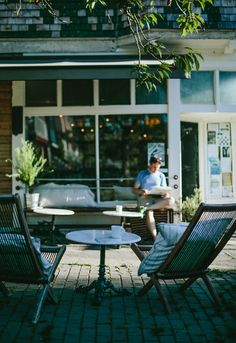 """Vancouver cafe, Le Marché St. George. Janaki Larsen, her husband Pascal Roy, and sister Klee Larsen were featured in Anthology Magazine Spring 2014 issue in a story titled """"All in the Family."""" - See more at: http://anthologymag.com/blog3/2014/05/22/in-the-magazine-le-marche-st-george/#sthash.WrnqmrCY.dpuf  Photograph by Claudette Carracedo."""