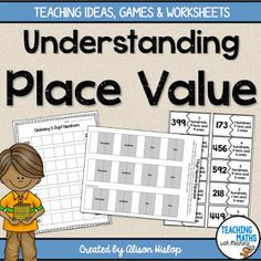 Place Value Games, Activities and Worksheets Teaching Tools, Teaching Math, Teaching Resources, Maths, Math Games, Teaching Ideas, Place Value Games, Second Grade Math, Grade 3