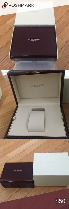Longines Rectangle Acrylic Watch Box & Outer Box Brand new watch box for Longines watches.  From a jeweler that went out of business.  Wood look inner box. Longines Accessories Watches