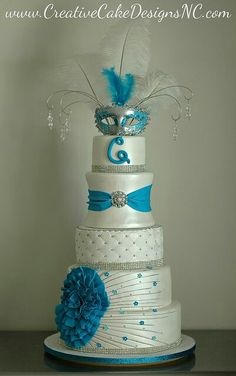 Quinceanera or Sweet 16 Cake Fancy Cakes, Cute Cakes, Pretty Cakes, Beautiful Wedding Cakes, Gorgeous Cakes, Amazing Cakes, Fondant Cakes, Cupcake Cakes, Masquerade Cakes