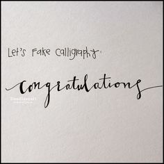 How to Fake Script Calligraphy!  Scrolly, scripty, flowy, gorgeous penmanship is all the rage right now!  Calligraphy is beautiful, ...