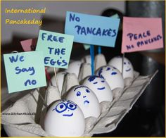 Eggs against pancakeday