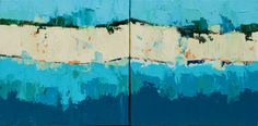~*~Give the gift of art~*~ Works under $1,500~*~ Maxine Price   Blue Tango Diptych   Oil on Canvas   12 x 24   $900 Russell Collection Fine Art Gallery :: Austin, Texas