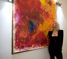 Big Red, Kim Okura. BIG RED at VCA Vienna City Apartments™ Vienna, City, Red, Painting, Painting Art, Cities, Paintings, Painted Canvas, Drawings