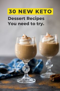 30 Easy and Delicious Keto Friendly Desserts for your sweet cravings! Keto Friendly Desserts, Keto Desserts, Gluten Free Desserts, Keto Snacks, Delicious Desserts, Printable Coupons, Free Printable, Sugar Free Sweets, Best Dessert Recipes