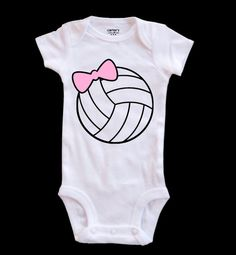 Volleyball baby one piece Volleyball Bow tie or by VolleyChick