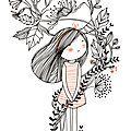 en bouquet enlacée de pavot et de chicorée  ---  (oui, Sabine, je me suis re-inspirée de ton tattoo...