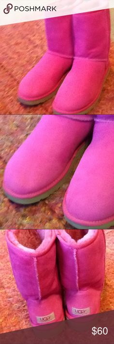 Pink uggs Worn once, like brand new UGG Shoes Winter & Rain Boots